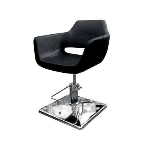 Фризьорски стол в класически черен цвят - 063