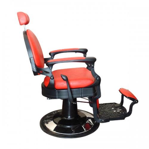 Бръснарски стол в червено и черно - Модел BO45