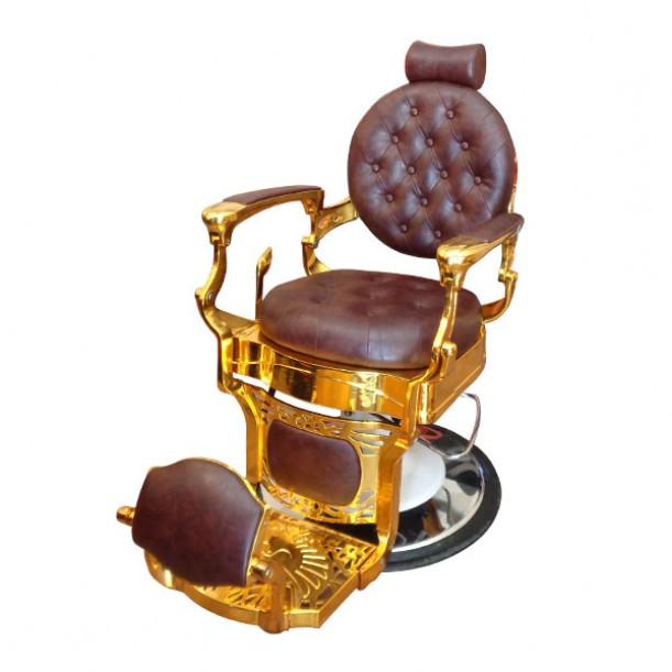 Бръснарски стол с луксозна визия - Модел BO49