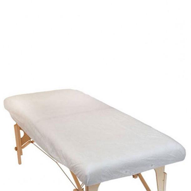 Непромокаеми еднократни чаршафи за масажно легло с ластик, опаковка от 10 броя