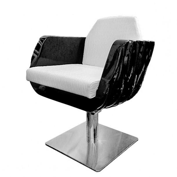 Фризьорски стол в черно и бяло - Модел Перла
