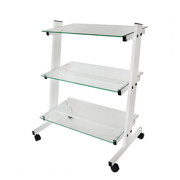 Наклонена работна количка за козметичен салон КК002