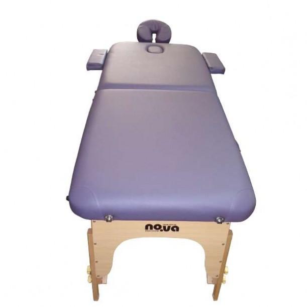Дървена Масажна Кушетка NO.VA Standart NV22 в лилав цвят