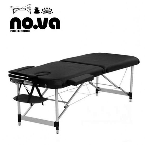 Алуминиева масажна кушетка NO.VA Aero NV22 в черен цвят