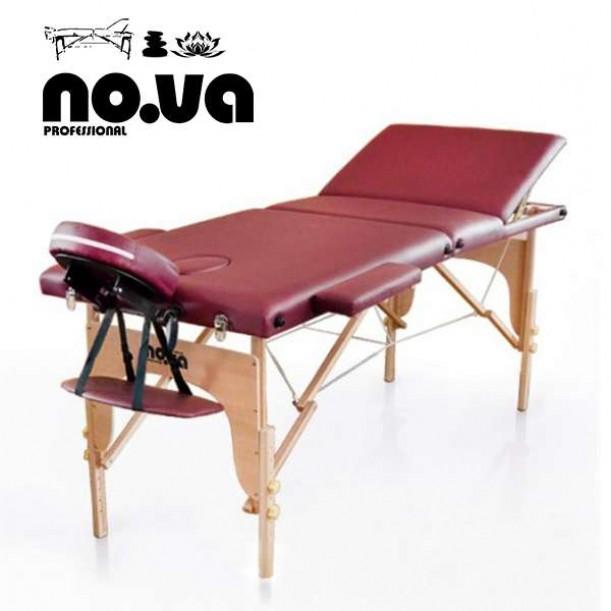 Дървена Масажна Кушетка NO.VA Standart Plus NV31 - червена
