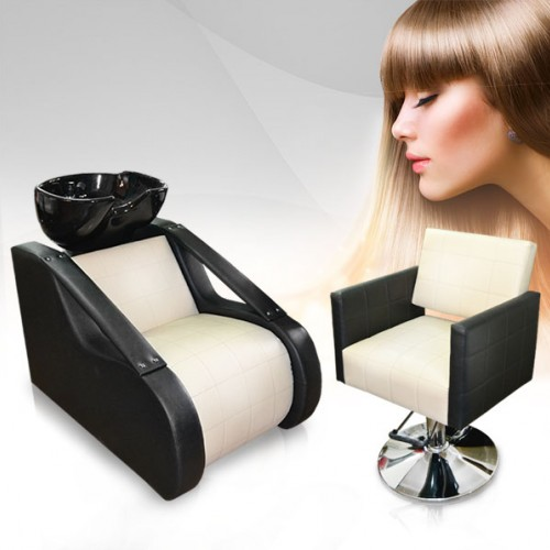 Комплект фризьорско оборудване - измивна колона и фризьорски стол