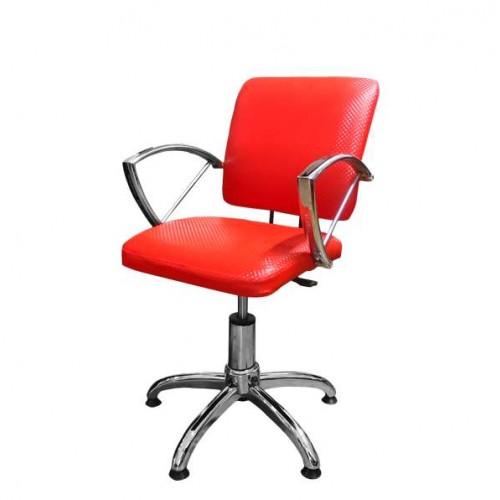 Стилен фризьорски стол, червен