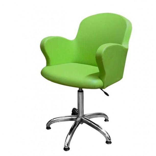 Професионален фризьорски стол, зелен