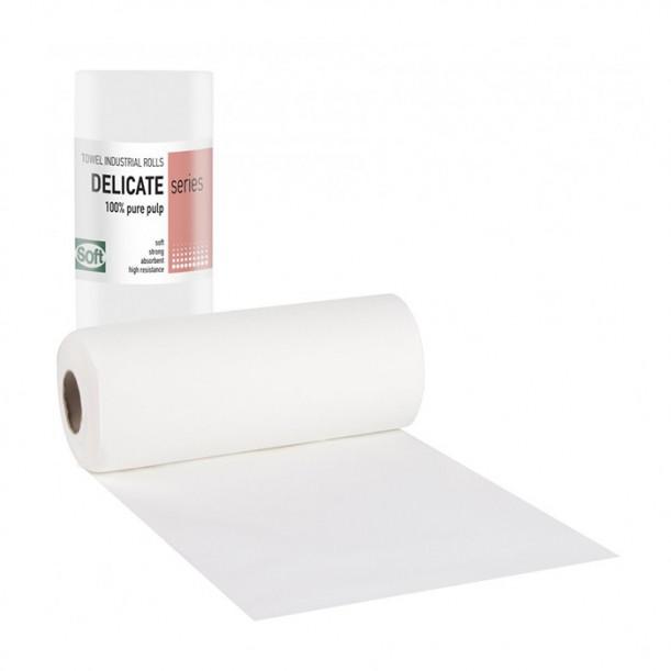 Двупластови хартиени кърпи на руло Softcare