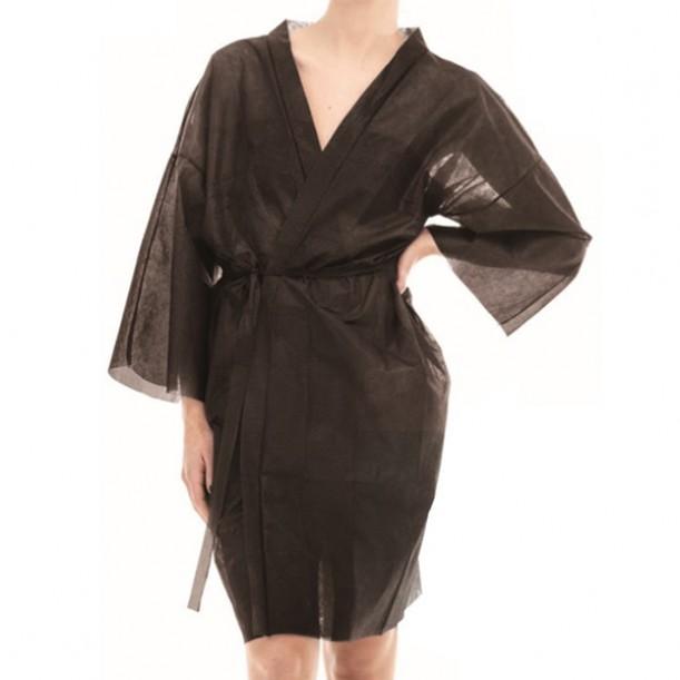 Кимоно от нетъкан текстил в черен цвят