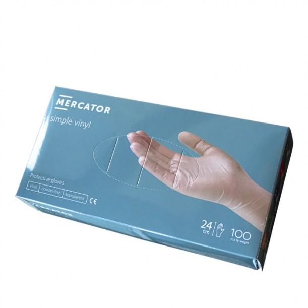 Прозрачни ръкавици от винил без пудра, 100 броя