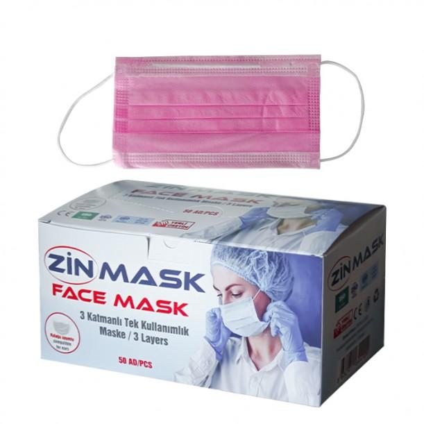 Маски от нетъкан текстил за еднократна употреба Zin mask - 50 бр.