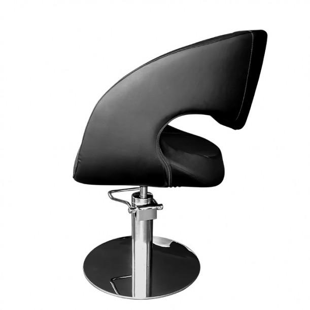 Фризьорски стол в елегантен черен цвят - 051