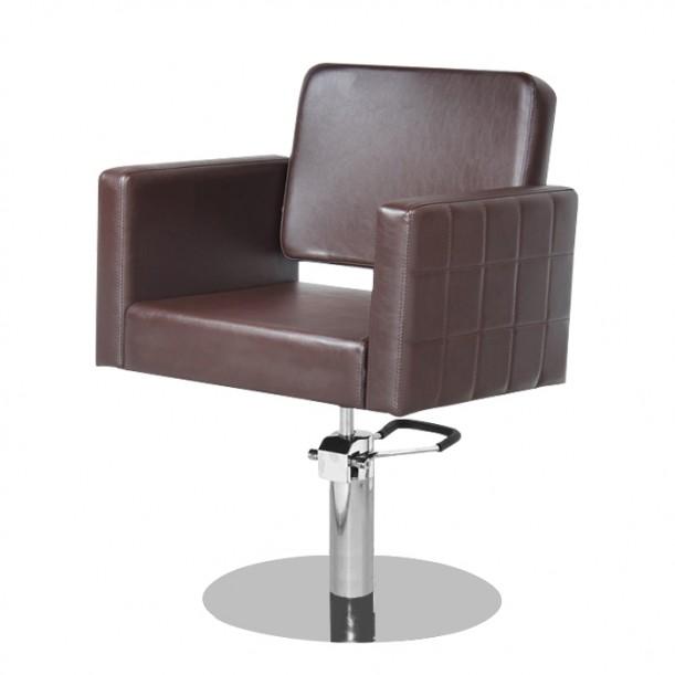 Фризьорски стол M970, кафяв