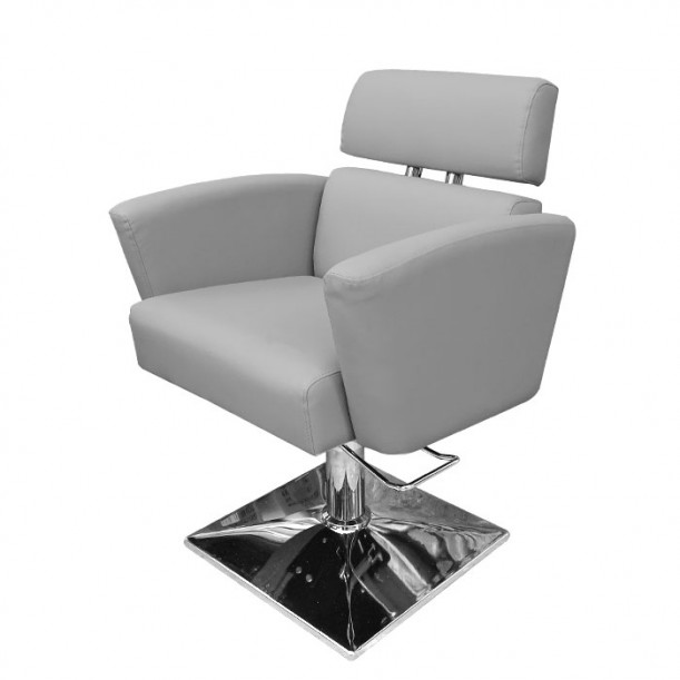 Модерен фризьорски стол в сиво IM215