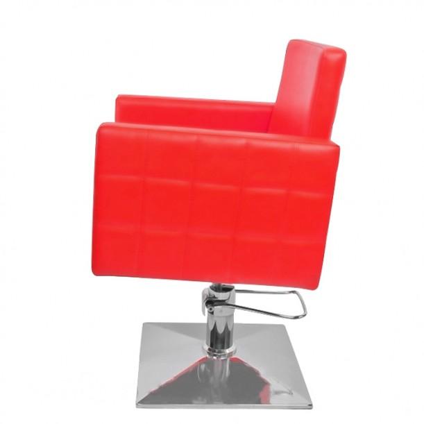 Фризьорски стол в наситено червено PA08F0R