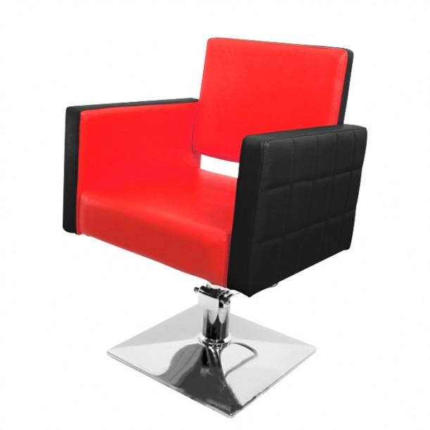 Модерен черно-червен фризьорски стол модел PA08F0BR