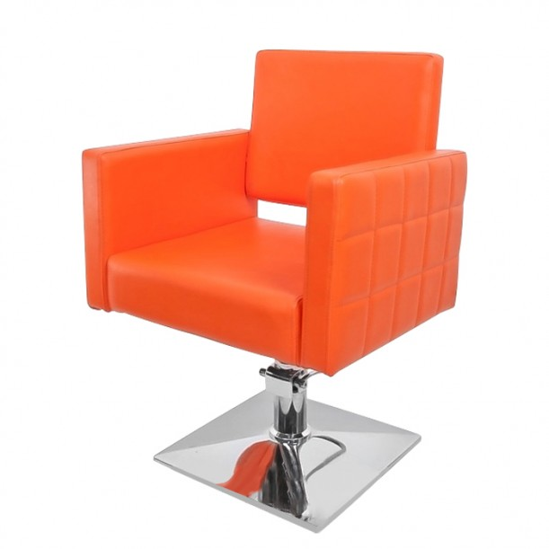 Фризьорски стол за професионалисти модел PA08F0OR - оранжев