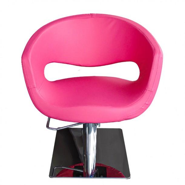 Фризьорски стол в модерен розов цвят - T51