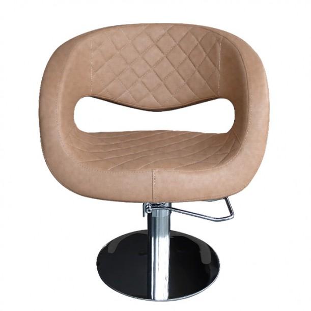 Фризьорски стол в елегантен кафяв цвят - T52