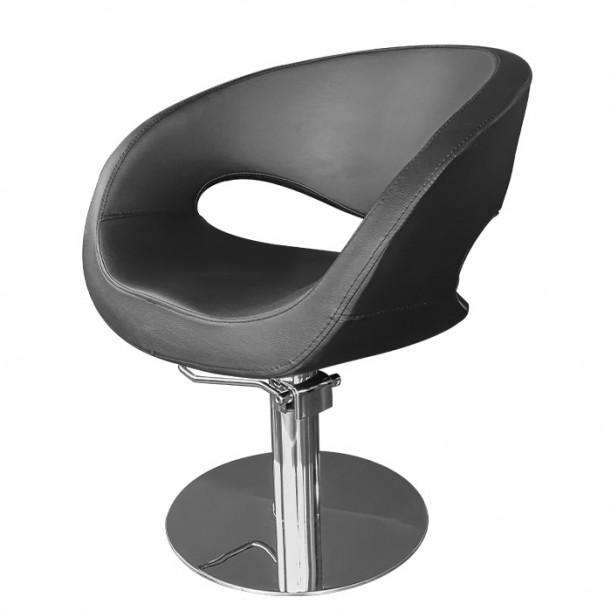 Модерен фризьорски стол в черен цвят - T53