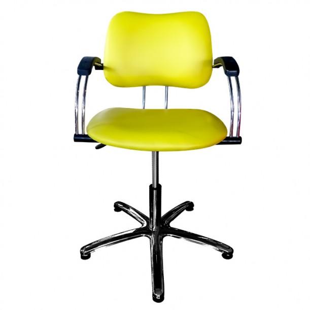 Жълт фризьорски стол модел 332