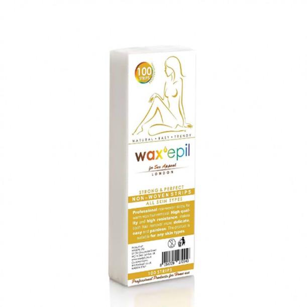 Ленти за кола маска, нарязани - WaxEpil - 100 бр