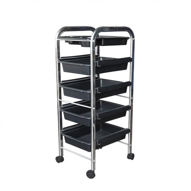 Фризьорска количка, черна - Модел 305