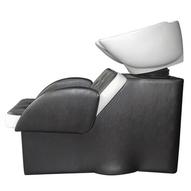 Измивна колона за фризьорски салон М24, Черно-бяла
