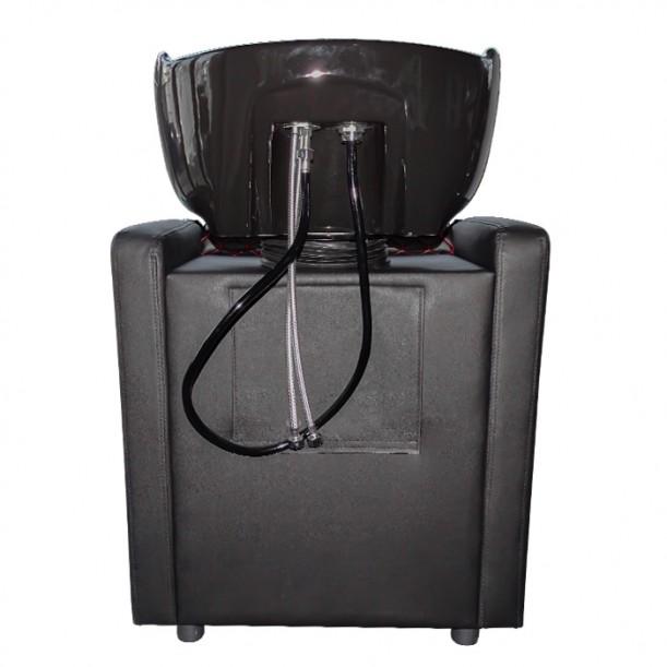 Луксозна измивна колона за фризьорски салон M402 с червени шевове