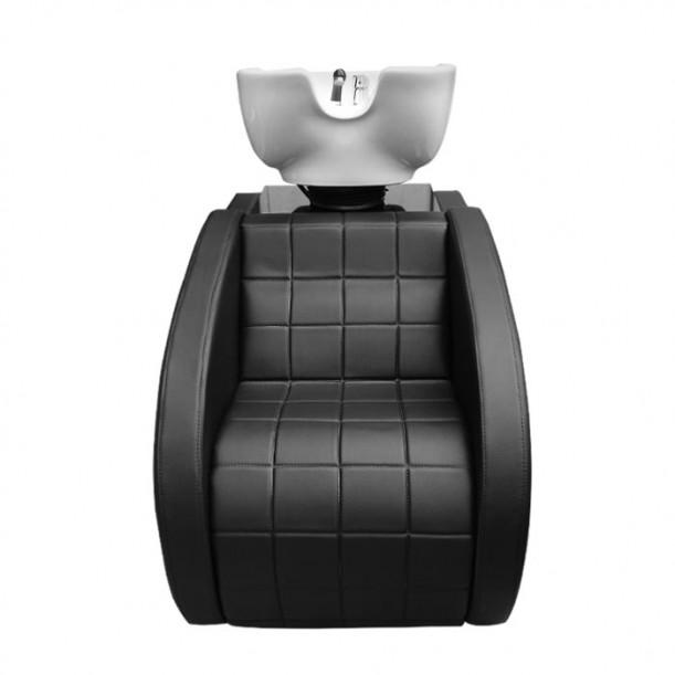 Класическа измивна колона от черна еко кожа модел N249