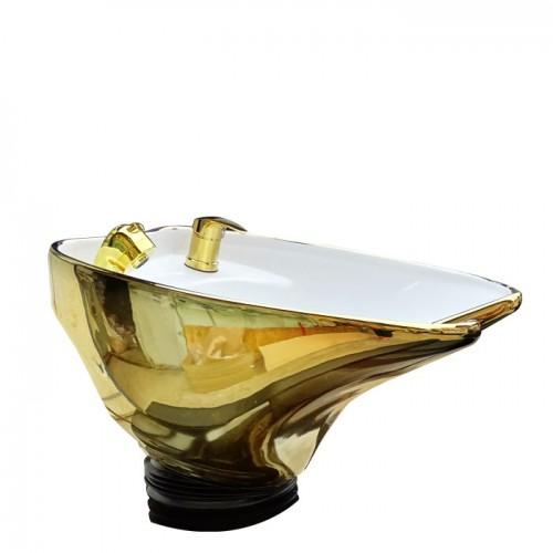 Измивна колона със златиста керамична мивка Модел N292