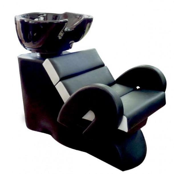 Професионална измивна колона FO22, черно-бяла