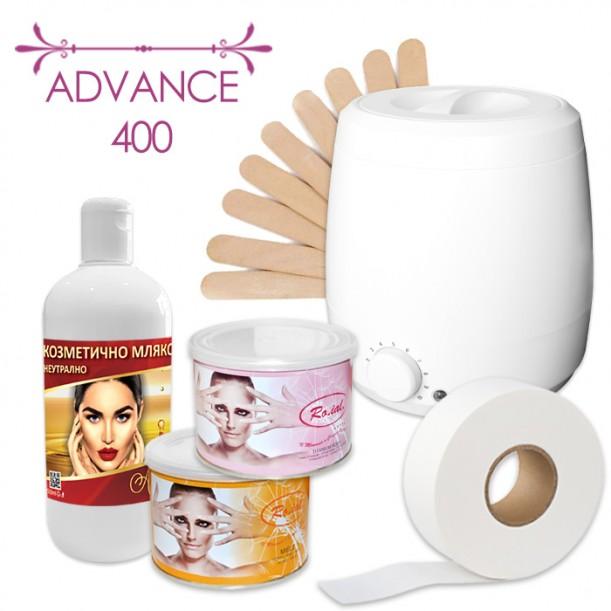 Пакет Advance 400 за епилация с кола маска в кутия от 400 мл