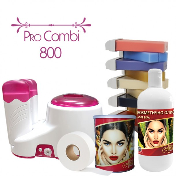 Пакет за епилация с кола маска - Pro Combi 800