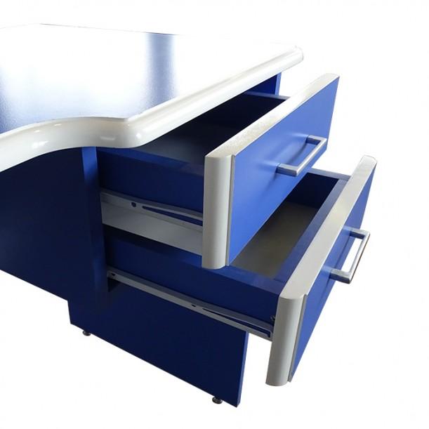 Комбиниран вариант бюро за маникюр и рецепция модел 405