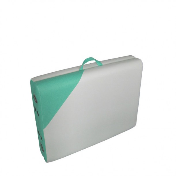 Алуминиева масажна кушетка NO.VA Aero Delux N21 - Бял и Зелен