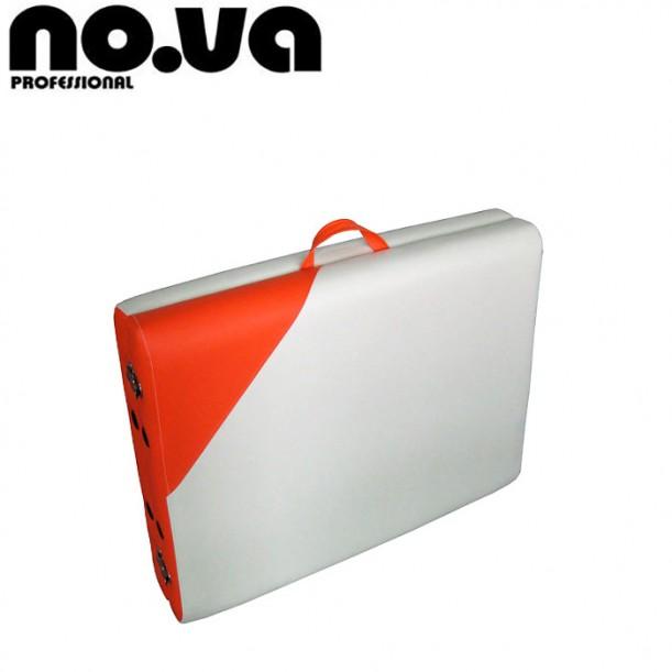 Алуминиева масажна кушетка NO.VA Aero Delux N21 - Бял и Оранжев