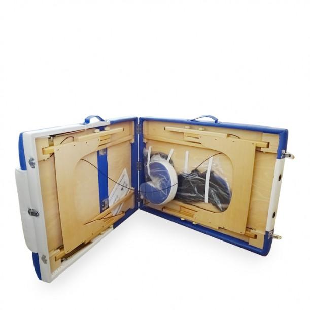 Дървена трисекторна масажна кушетка с повдигане W3041