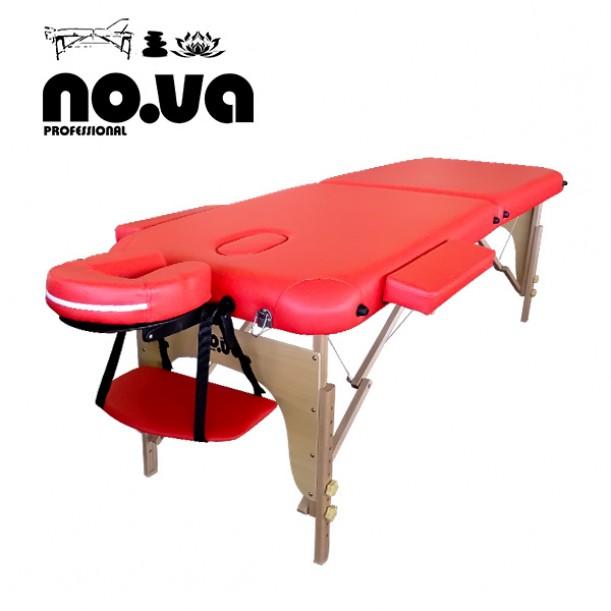 Дървена Масажна Кушетка NO.VA Standart NV22 в червен цвят