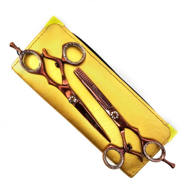 Професионален комплект фризьорски ножици Yuniku модел DS8