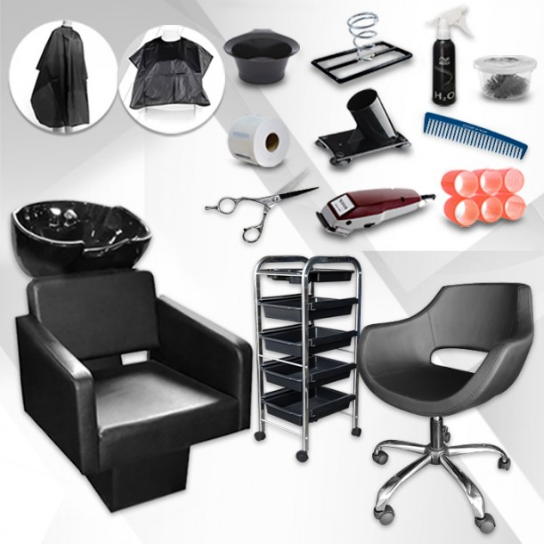 Цялостно фризьорско оборудване с над 10 продукти подарък Full Start