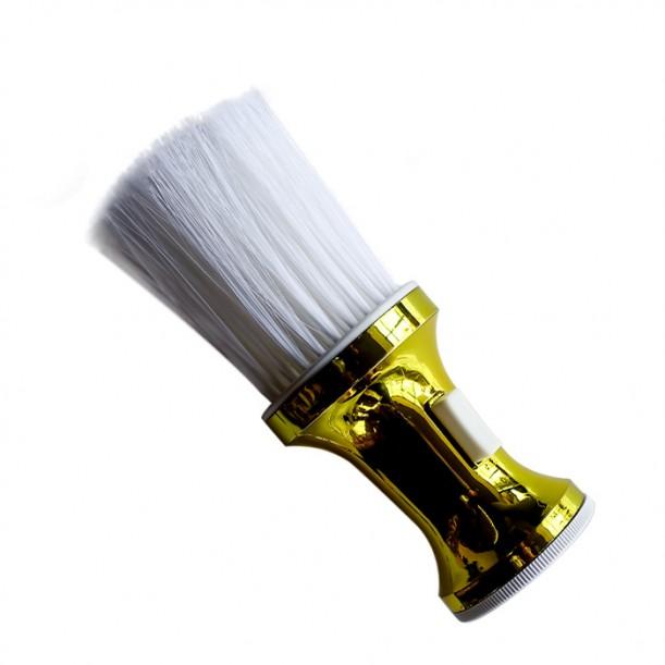 Професионална четка за врат с резервоар за пудра модел R13 златиста