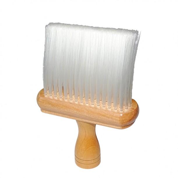 Удобна дървена четка за врат 020 с мек косъм