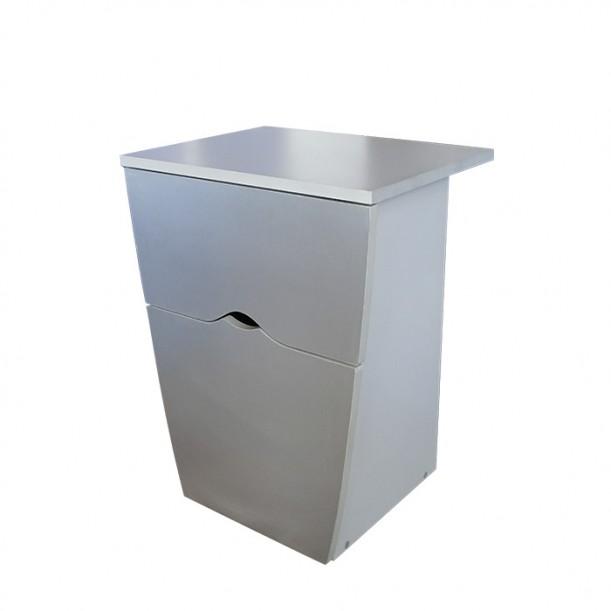 Сив фризьорски шкаф за материали модел 405
