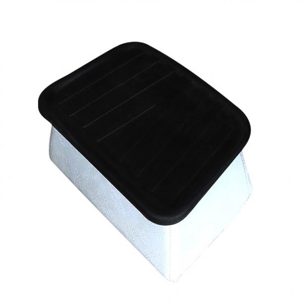 Стойка за крака модел D420 в бяло и черно