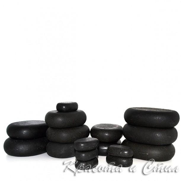 Вулканични Камъни За Масаж – Комплект 16 бр. базалтови камъка